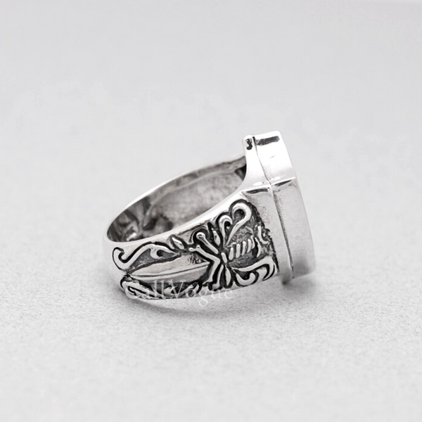King Lion Heart Knight Sterling Silver Mens Rings Callvogue
